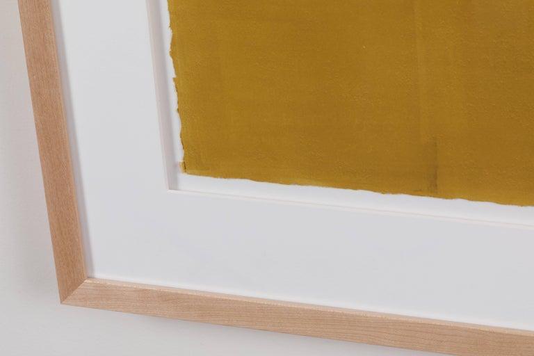 Mid-Century Modern Mustard Gradient Monoprint #19 by Anna Ullman For Sale
