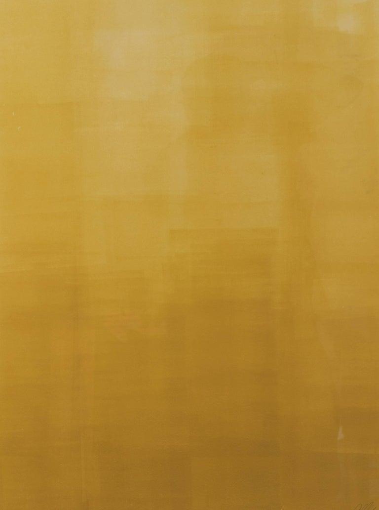 American Mustard Gradient Monoprint #19 by Anna Ullman For Sale