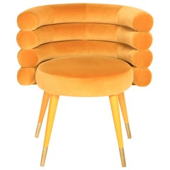 Mustard Marshmallow Dining Chair, Royal Stranger