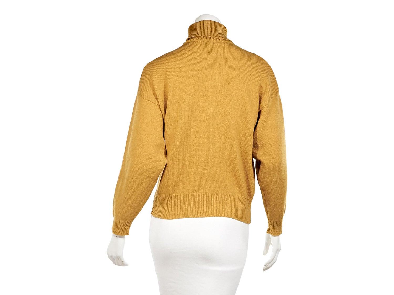 Mustard Yellow Vintage Hermes Turtleneck Sweater For Sale At 1stdibs