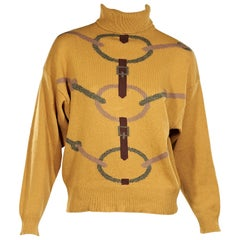 Mustard Yellow Vintage Hermes Turtleneck Sweater