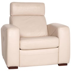 Musterring Leather Armchair Cream Function