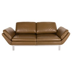 Musterring MR 675 Leather Sofa Green Olive Two-Seater Function Relax Function