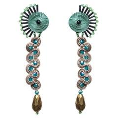 Musula Afrikania Zulú Earrings w/silver closure