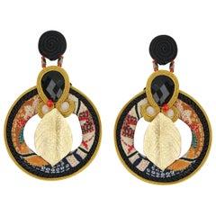 Musula Summer  Bonsai Soutache Earrings w/silver closure