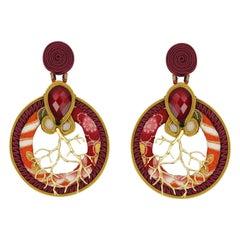 Musula Winter  Bonsai Soutache Earrings w/silver closure