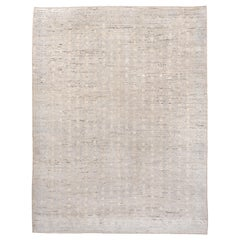 Muted Baby Blue Modern Moroccan Style Carpet, Medium Pile