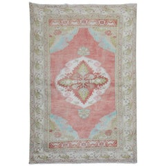 Muted Red Pink Turkish Scatter Size Rug