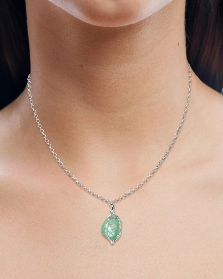 Muzo Emerald Colombia Heritage Chakana Pendant set with 5.89 carats Emerald  Chakana takes its name from the sacred and mysterious Inca cross, representing three worlds – 1) stars, heavens and gods, 2) the earthly world and 3) the underworld –and a