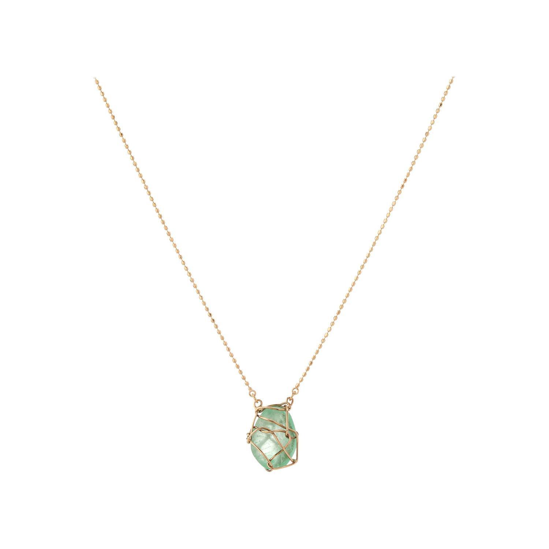 Muzo Emerald Colombia Emerald 18K Yellow Gold Drop Necklace