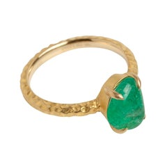 Muzo Emerald Colombia Emerald 18K Yellow Gold Cocktail Ring