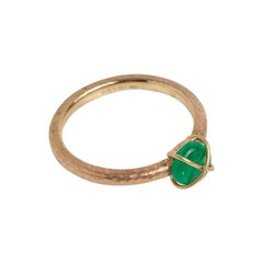 Muzo Emerald Colombia Emerald 18K Yellow Gold Ring