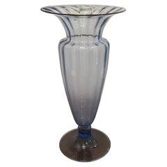 MVM Cappellin Vase Blu Murano Glass, 1925, Italy