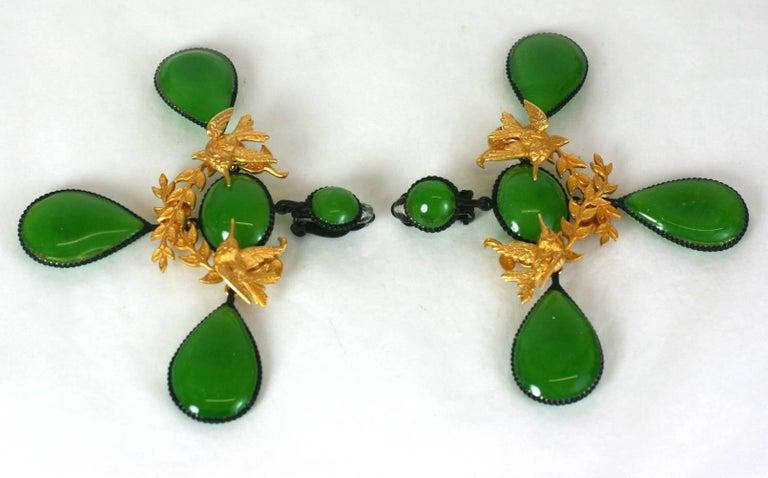 Baroque Revival MWLC Girandole Garland Earrings For Sale