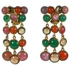 MWLC Harlequin Pastille Poured Glass Earclips