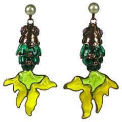 MWLC Poured Glass Koi Fish Earrings