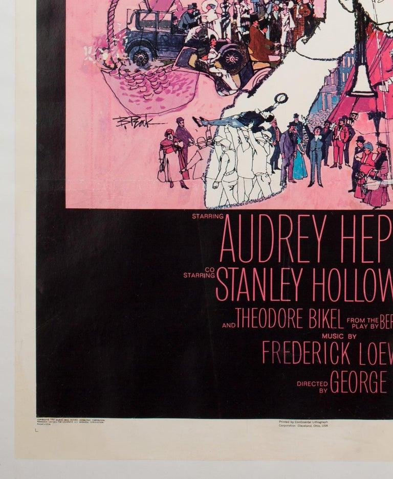 American 'My Fair Lady' 1964 US 1 Sheet Film Poster, Peak For Sale