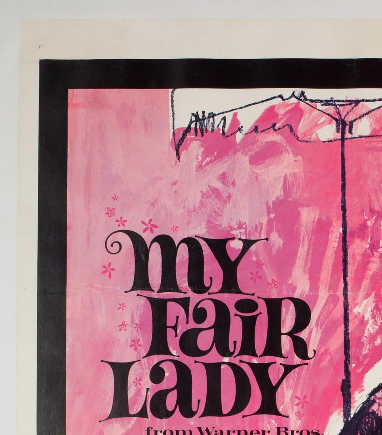 Linen 'My Fair Lady' 1964 US 1 Sheet Film Poster, Peak For Sale
