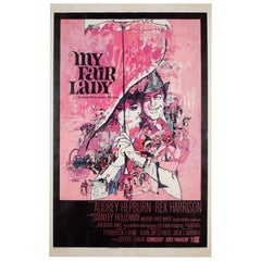 'My Fair Lady' 1964 US 1 Sheet Film Poster, Peak