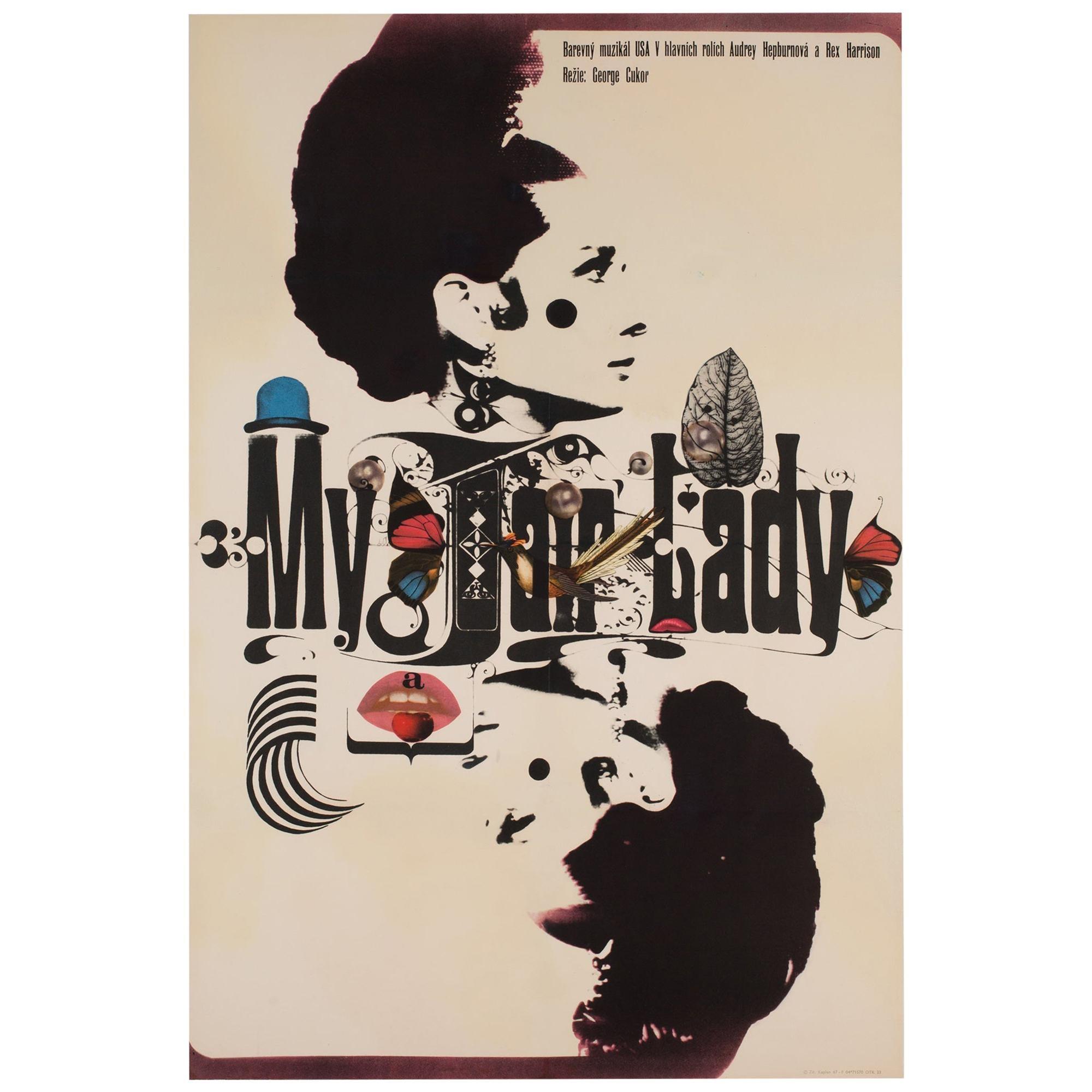 My Fair Lady Czech A1 Film Movie Poster, 1967, Zdeněk Kaplan
