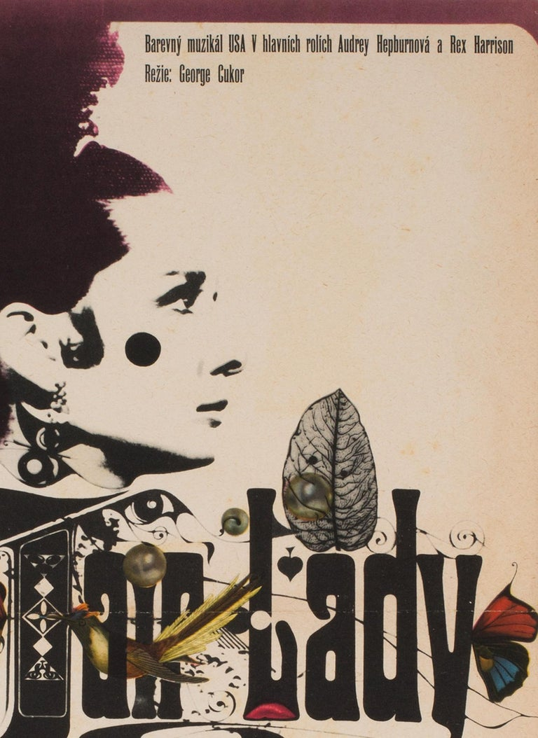 My Fair Lady Czech Film Movie Poster, 1967, Zdeněk Kaplan In Excellent Condition For Sale In Bath, Somerset