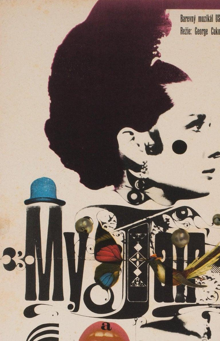 20th Century My Fair Lady Czech Film Movie Poster, 1967, Zdeněk Kaplan For Sale