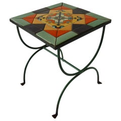 My Favourite California Tile Table in Wrought Iron Base