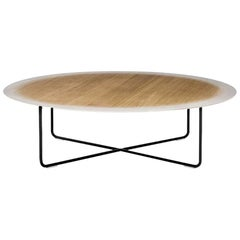"""My Gradient"" Wood Coffee Table with Oak Top & Steel Base by Moroso for Diesel"