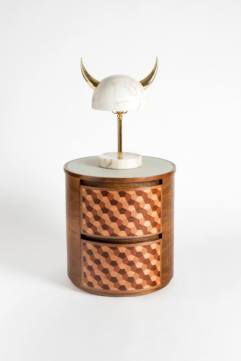 My Little Viking Marble and Brass Table Lamp by Merve Kahraman For Sale 4