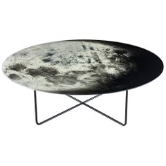 """My Moon My Mirror"" Printed Glass Mirror Coffee Table by Moroso for Diesel"