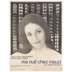 My Night at Maud's 1969 French Grande Film Poster