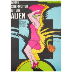 """My Stepmother is an Alien"", 1990 East German Film Movie Poster"