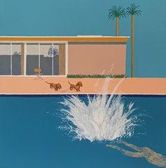 Mychael Barratt, Hockney's Dogs - The Biggest Splash, Contemporary Art