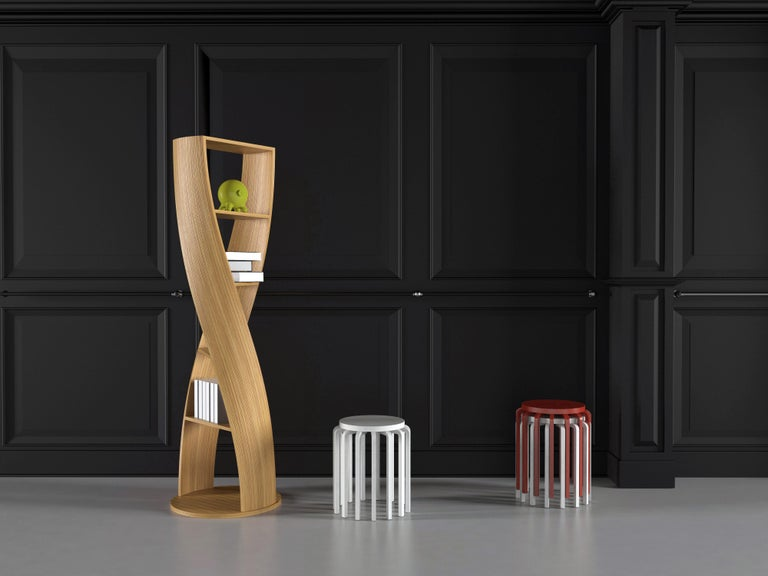 Zebrano Bookcase and Storage System: MYDNA Collection by Joel Escalona For Sale 1