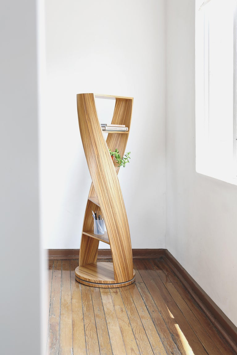 Zebrano Bookcase and Storage System Mini MYDNA Collection by Joel Escalona In New Condition For Sale In Mexico City, MX