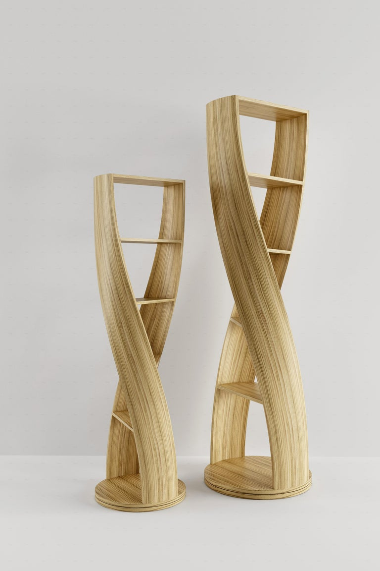 Zebrano Bookcase and Storage System Mini MYDNA Collection by Joel Escalona For Sale 1