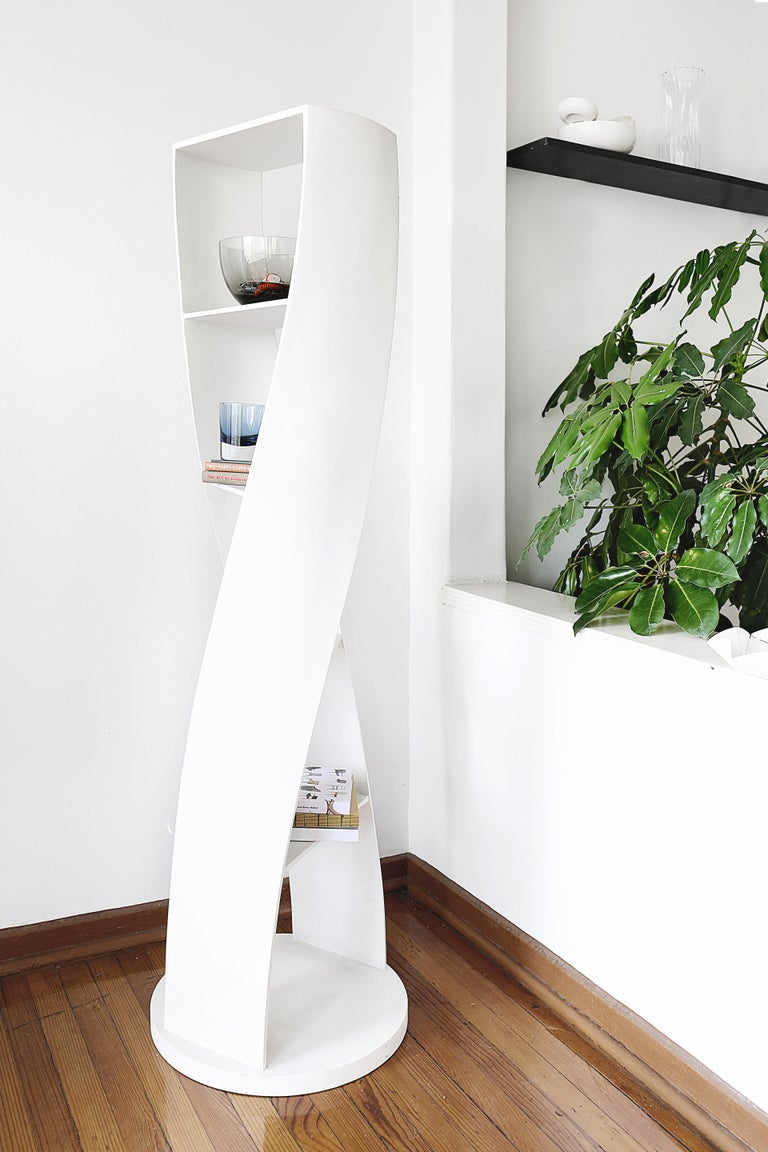 White Bookcase and Storage System: MYDNA Collection by Joel Escalona For Sale 4