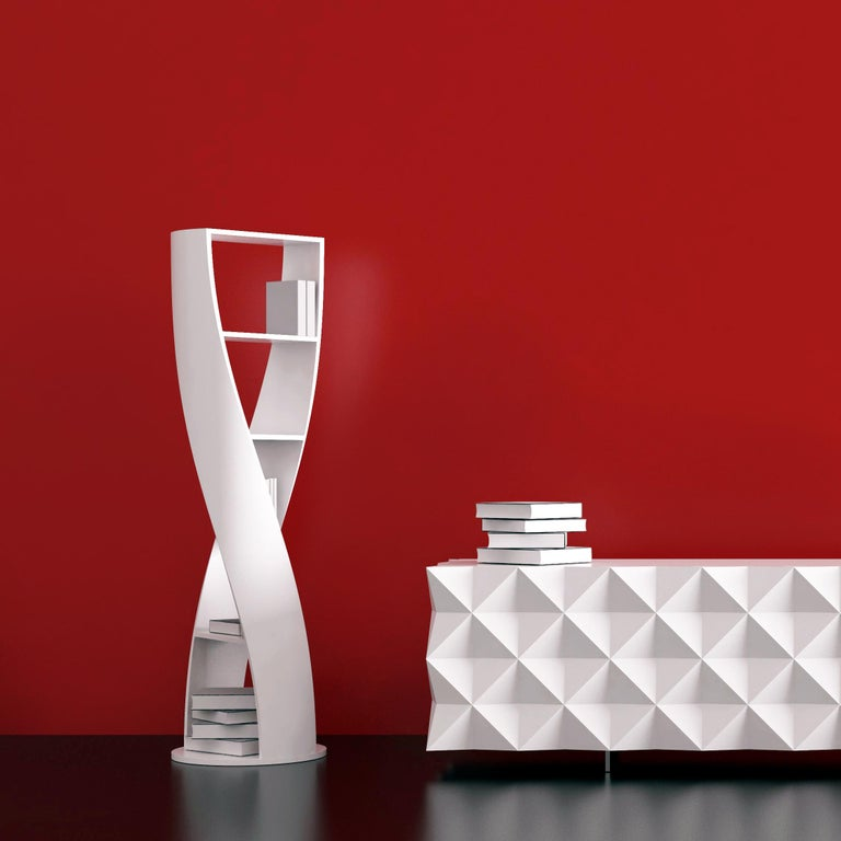 White Bookcase and Storage System, MYDNA Collection by Joel Escalona For Sale 2