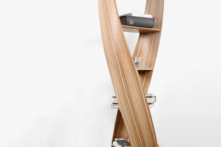 Zebrano Bookcase and Storage System: MYDNA Collection by Joel Escalona For Sale 3