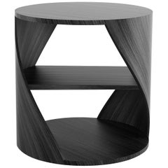 Black Wood Decorative Nightstand — MYDNA Side Table by Joel Escalona