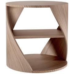 MYDNA Side Table — Walnut Wood Finish