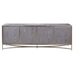 Myra Sideboard, Black and White Marble Top Sideboard