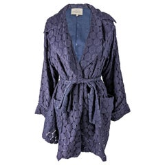 Myrene de Premonville Vintage Belted Lace Swing Coat, S/S 1991