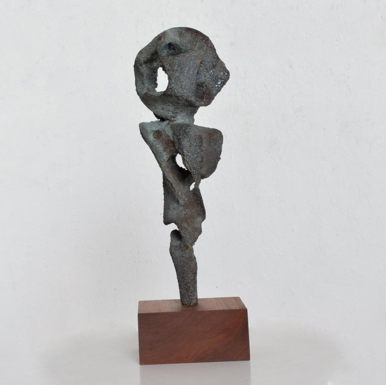 Patinated Myrna M Nobile Abstract Bronze Sculpture #5 Mid-Century Modern For Sale
