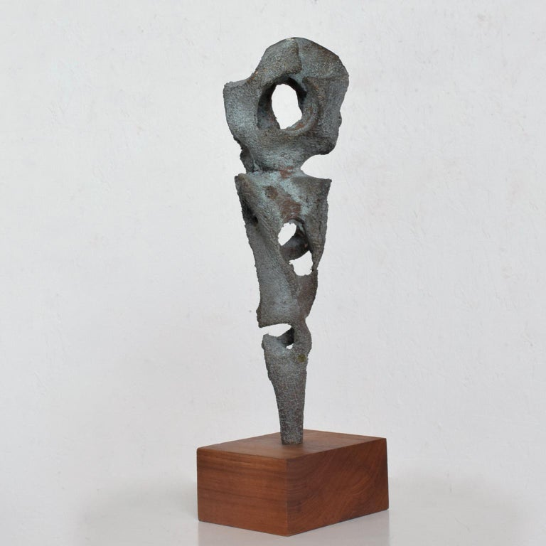 Myrna M Nobile Abstract Bronze Sculpture #5 Mid-Century Modern In Good Condition For Sale In National City, CA