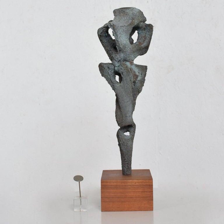 Walnut Myrna M Nobile Abstract Bronze Sculpture #5 Mid-Century Modern For Sale
