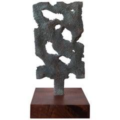 Myrna Nobile Bronze Abstract Sculpture, 1960s