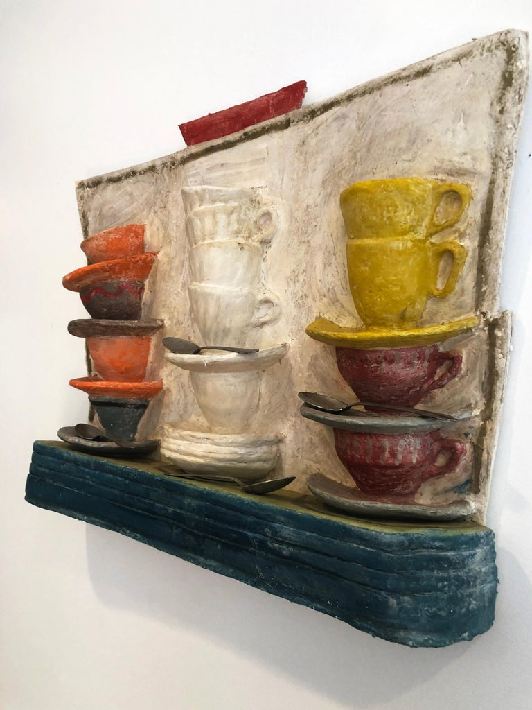 Pop Art Wall sculpture by Myron Melnick, Cup Stax For Sale 1
