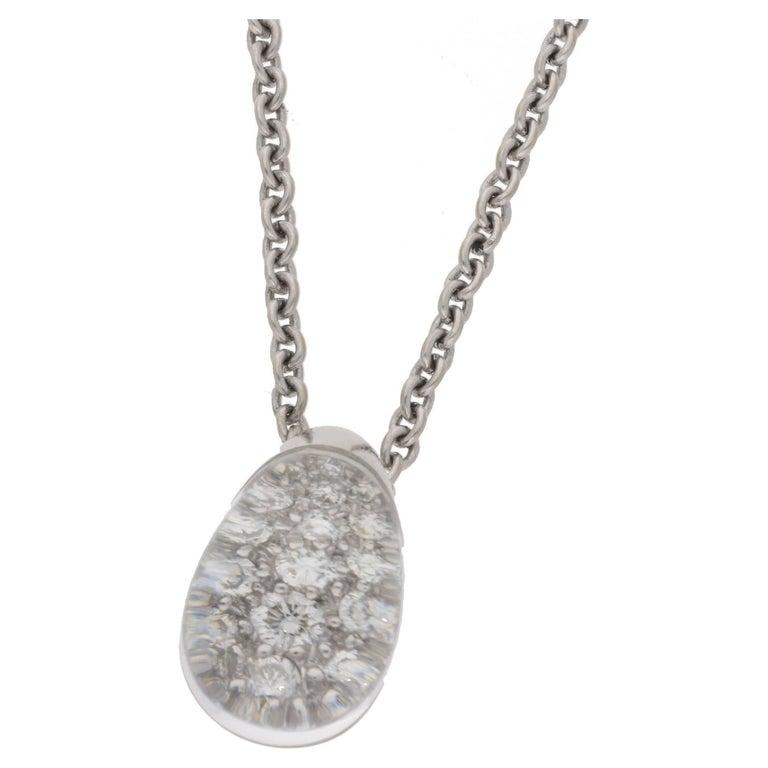Myst de Cartier Rock Crystal Diamond Drop Pendant