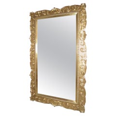 Mystere Mirror with Hand Carved Baroque Frame